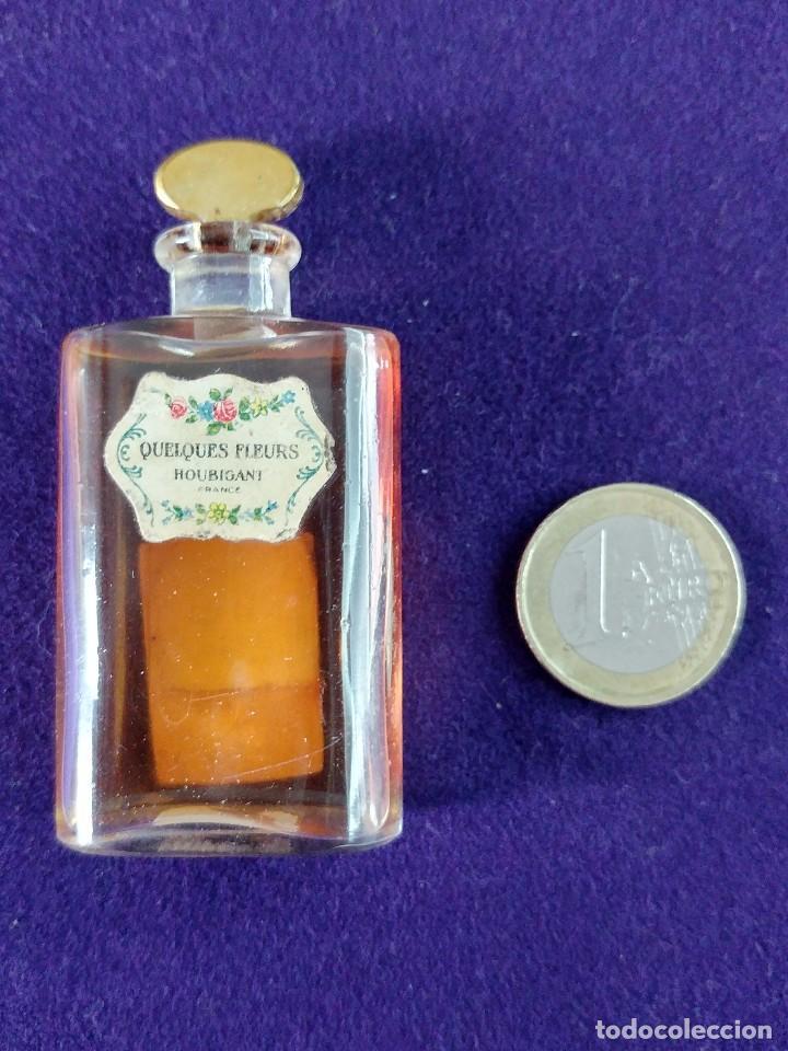 Miniaturas de perfumes antiguos: ANTIGUO FRASCO DE PERFUME QUELQUES FLEURS. HOUBIGANT. FRANCE. AÑO 1913. MINIATURA. - Foto 5 - 99364763