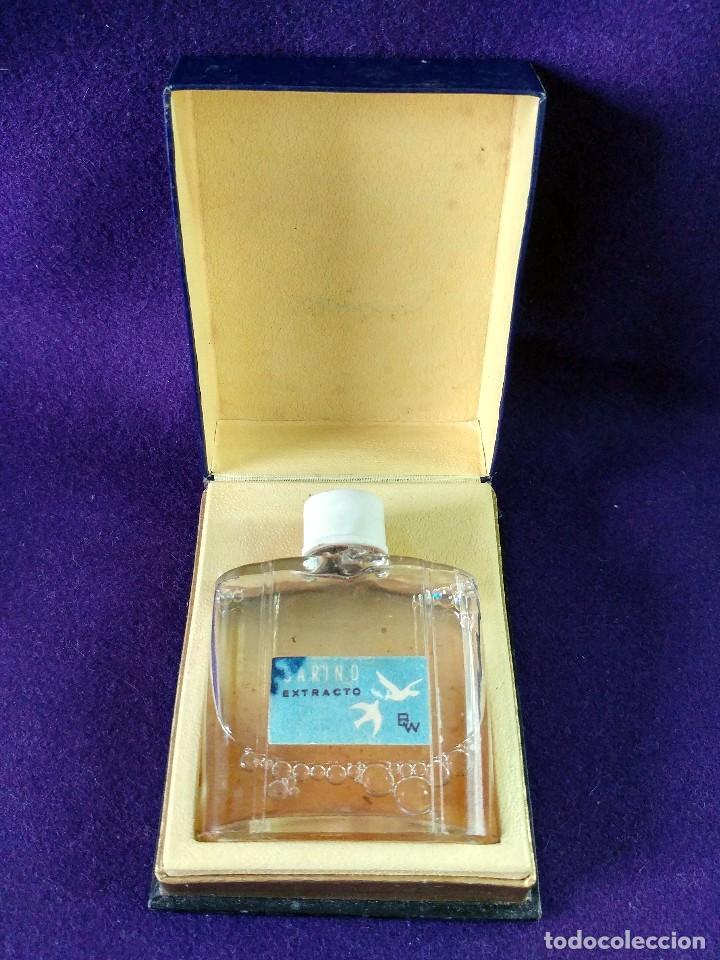 ANTIGUO FRASCO DE PERFUME CARIÑO EXTRACTO BW. EN SU CAJA ORIGINAL. AÑOS 40-50. MINIATURA. SIN USAR (Coleccionismo - Miniaturas de Perfumes)