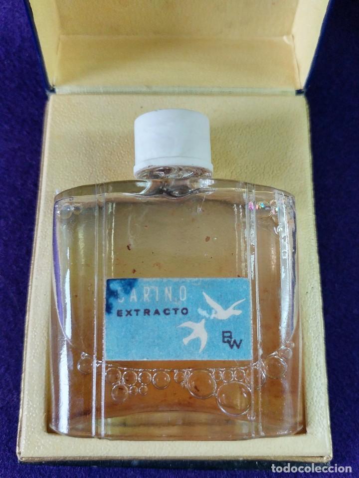 Miniaturas de perfumes antiguos: ANTIGUO FRASCO DE PERFUME CARIÑO EXTRACTO BW. EN SU CAJA ORIGINAL. AÑOS 40-50. MINIATURA. SIN USAR - Foto 2 - 99366219