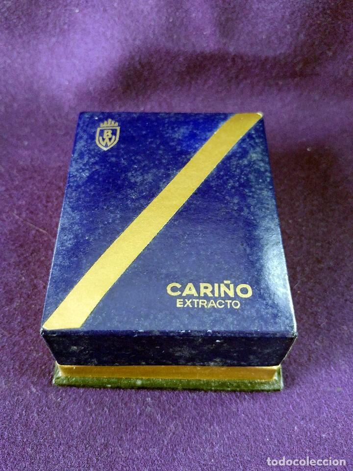 Miniaturas de perfumes antiguos: ANTIGUO FRASCO DE PERFUME CARIÑO EXTRACTO BW. EN SU CAJA ORIGINAL. AÑOS 40-50. MINIATURA. SIN USAR - Foto 3 - 99366219