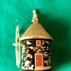 Miniaturas de perfumes antiguos: ESENCIERO GRIEGO DE CERAMICA EN FORMA DE MOLINO - 9,5 X 6 CENTIMETROS . Lote 100087587