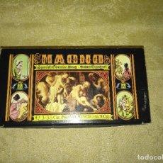 Miniaturas de perfumes antiguos: ESTUCHE CAJA CON TRES PASTILLAS DE JABÓN MAGNO. Lote 100265451