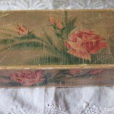 Miniaturas de perfumes antiguos: FUNDA CAJA DE JABONES AVON-TOUCH OF ROSES. Lote 100407227