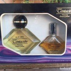 Échantillons de parfums anciens: ESTUCHE COLONIA TENTACIÓN DE PARERA DESIGNED BY LEONIERO GALLEANI. Lote 102447263