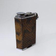 Miniaturas de perfumes antiguos: MARCEL FRANCK PARIS, LE SUPER KID - ATOMIZER - METAL CROMADO Y PIEL DE SERPIENTE - ART DECO 1.930. Lote 51255497