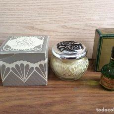 Miniaturas de perfumes antiguos: AVON. 1 CAJITA CON CREMA. 1 CAJITA CON COLONIA. ANTIGUAS.. Lote 213585236