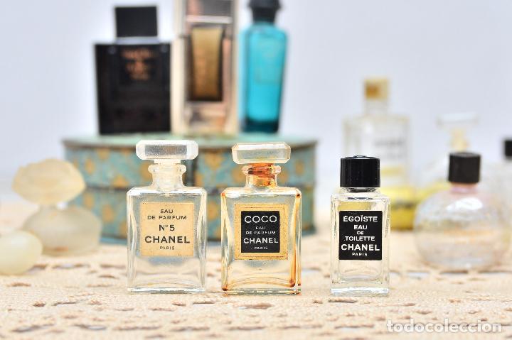 Miniaturas de perfumes antiguos: PERFUME CHANEL MINIATURA FRASCO COLONIA MINI EAU PARFUM PARIS BOTE CRISTAL - Foto 4 - 104381787