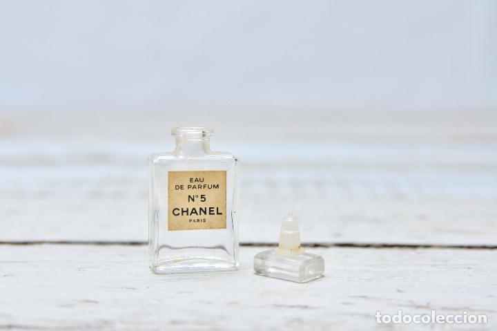 PERFUME CHANEL MINIATURA FRASCO COLONIA N5 MINI EAU PARFUM PARIS BOTE CRISTAL (Coleccionismo - Miniaturas de Perfumes)