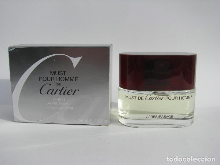 CARTIER AFTER SHAVE 50 ML MUST POUR HOMME - NUEVO SIN USAR (Coleccionismo - Miniaturas de Perfumes)