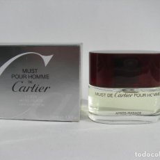 Miniaturas de perfumes antiguos: CARTIER AFTER SHAVE 50 ML MUST POUR HOMME - NUEVO SIN USAR. Lote 104759867