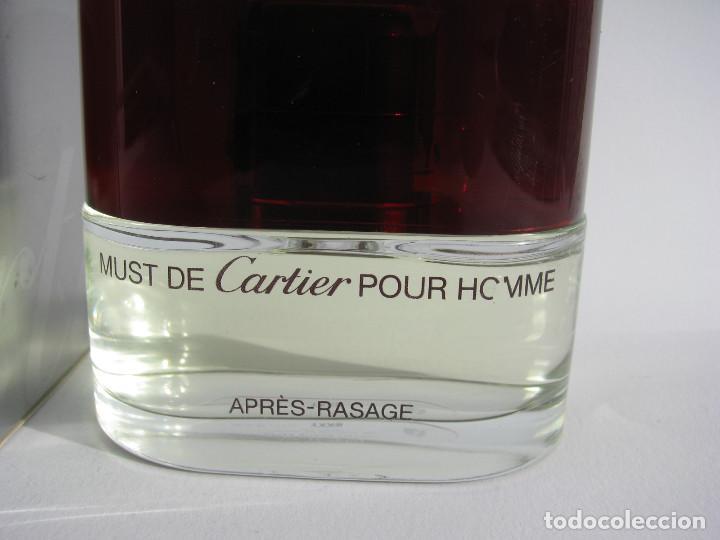 Miniaturas de perfumes antiguos: CARTIER AFTER SHAVE 50 ML MUST POUR HOMME - NUEVO SIN USAR - Foto 2 - 104759867