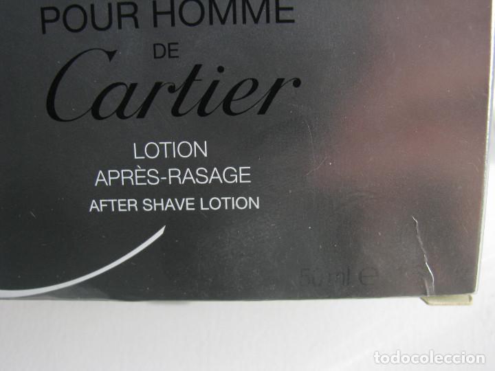 Miniaturas de perfumes antiguos: CARTIER AFTER SHAVE 50 ML MUST POUR HOMME - NUEVO SIN USAR - Foto 3 - 104759867