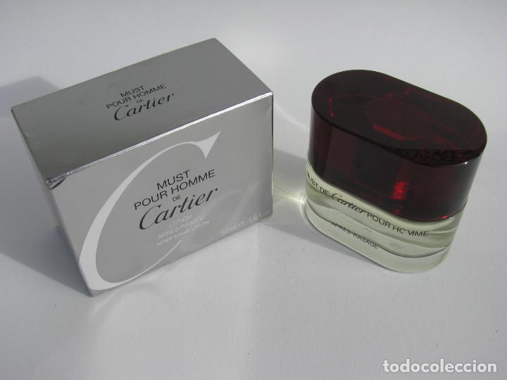 Miniaturas de perfumes antiguos: CARTIER AFTER SHAVE 50 ML MUST POUR HOMME - NUEVO SIN USAR - Foto 5 - 104759867