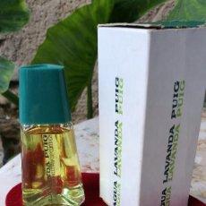 Miniaturas de perfumes antiguos: PUIG, AGUA LAVANDA CON CAJA.. Lote 105024731
