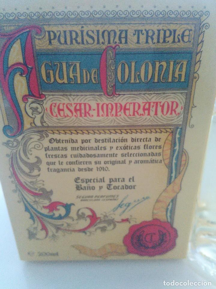 Miniaturas de perfumes antiguos: Agua de colonia Cesar Imperator Purísima Triple - Foto 3 - 140264924