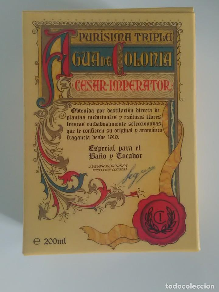 AGUA DE COLONIA CESAR IMPERATOR PURÍSIMA TRIPLE (Coleccionismo - Miniaturas de Perfumes)