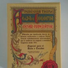 Miniaturas de perfumes antiguos: AGUA DE COLONIA CESAR IMPERATOR PURÍSIMA TRIPLE. Lote 140264924
