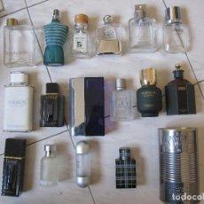 Miniaturas de perfumes antiguos: LOTE DE 16 FRASCOS DE PERFUME DE DISTINTAS MARCAS. Lote 126023592