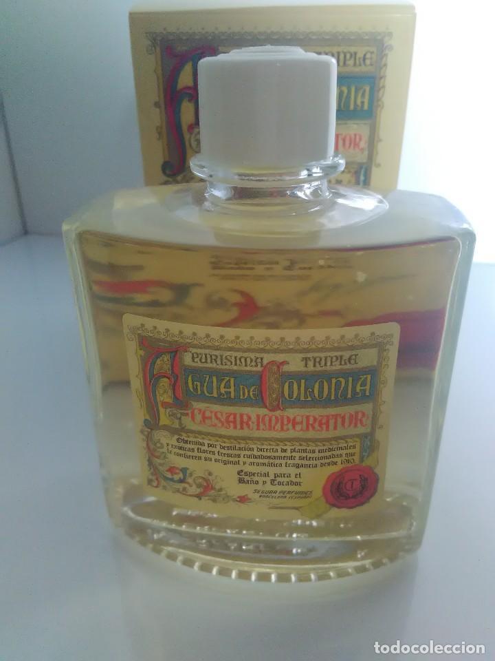 Miniaturas de perfumes antiguos: Agua de colonia Cesar Imperator Purísima Triple - Foto 4 - 140264924