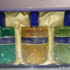 Miniaturas de perfumes antiguos: SET DE VERA OF SPAIN - GEL COLONIA MASAJE. Lote 108034987