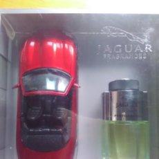 Miniaturas de perfumes antiguos: ESTUCHE PERFUME JAGUAR PERFORMANCE + JAGUAR XK8 A ESCALA 1:24. Lote 108517983