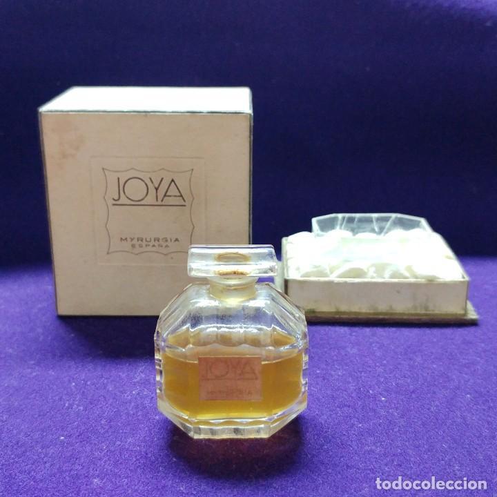 Miniaturas de perfumes antiguos: ANTIGUO FRASCO DE PERFUME JOYA DE MYRURGIA. ESPAÑA. EN SU CAJA ORIGINAL. AÑOS 50. MINIATURA. - Foto 3 - 110128723