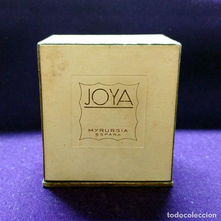 Miniaturas de perfumes antiguos: ANTIGUO FRASCO DE PERFUME JOYA DE MYRURGIA. ESPAÑA. EN SU CAJA ORIGINAL. AÑOS 50. MINIATURA. - Foto 4 - 110128723