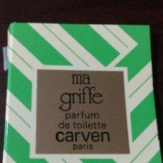 Miniaturas de perfumes antiguos: MA GRIFFE PARFUM CARVEN. Lote 111743935