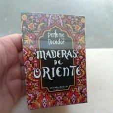 Miniaturas de perfumes antiguos: MADERAS DE ORIENTE MYRURGIA - PERFUME DE TOCADOR - PRECINTADO -. Lote 111895671