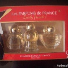 Miniaturas de perfumes antiguos: MINI**LES PARFUMS DE FRANCE**5 ML.** LOVELY FRENCH PARFUM C/CAJA.. Lote 113254099