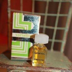 Miniaturas de perfumes antiguos: CARVEN PARIS. VARIATIONS. . Lote 113278555