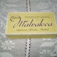 Miniaturas de perfumes antiguos: CAJA DE CARTÓN JABÓN MALVALOCA PERFUMERÍA FLORALIA MADRID. Lote 115187811