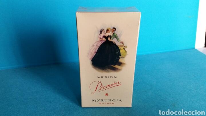 LOCIÓN PROMESA MYRURGIA 458 MEDIANO NUEVA PRECINTADA (Coleccionismo - Miniaturas de Perfumes)