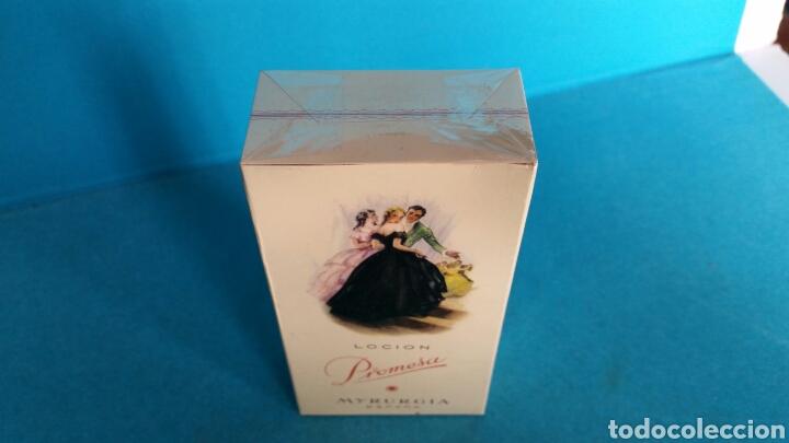 Miniaturas de perfumes antiguos: LOCIÓN PROMESA MYRURGIA 458 MEDIANO NUEVA PRECINTADA - Foto 3 - 117197047