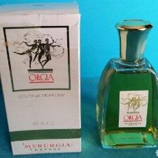 Miniaturas de perfumes antiguos: COLONIA PERFUME ORGIA MYRURGIA 100ML SIN USO. Lote 122533958