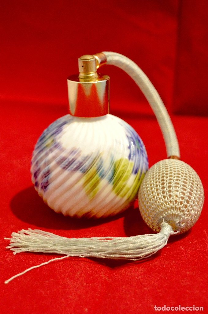 Miniaturas de perfumes antiguos: PRECIOSO PERFUMERO EN PORCELANA - Foto 6 - 57728004