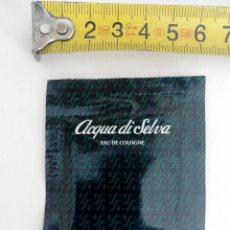 Miniaturas de perfumes antiguos: COLONIA ACQUA DI SELVA - MUESTRA TOALLITA - SIN ABRIR. Lote 119998147