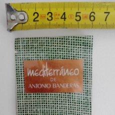 Miniaturas de perfumes antiguos: COLONIA MEDITERRANEO ANTONIO BANDERAS - MUESTRA COLONIA SIN A BRIR. Lote 120001691