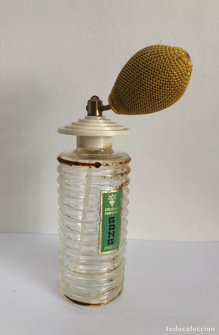 Miniaturas de perfumes antiguos: ANTIGUO FRASCO DE COLONIA PERFUME GONG DE PARERA - Foto 7 - 120817876