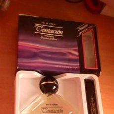 Miniaturas de perfumes antiguos: ESTUCHE COLONIA TENTACIÓN DE PARERA DESIGNE BY LEONIERO GALLEANI 100 ML....LEER. Lote 122264467