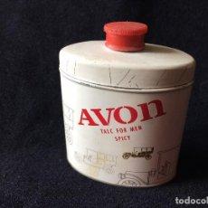 Miniaturas de perfumes antiguos: ANTIGUO BOTE DE TALCO PARA CABALLEROS DE AVON. Lote 122768003