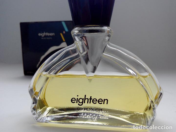 Miniaturas de perfumes antiguos: COLONIA EIGHTEEN 50 ML ANTONIO PUIG - AÑO 1990 - DESCATALOGADA - Foto 3 - 155424073