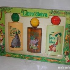 Miniaturas de perfumes antiguos: ESTUCHE COLONIA EL LIBRO DE LA SELVA DE PARERA // MUY ANTIGUO. Lote 124728359