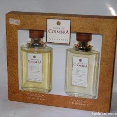 Miniaturas de perfumes antiguos: FRASCO DE COLONIA COIMBRA Y AFTHER SAVE DE MYRURGIA // ESTUCHE SIN DESPRECINTAR DE ANTIGUA PERFUMERI. Lote 125213347