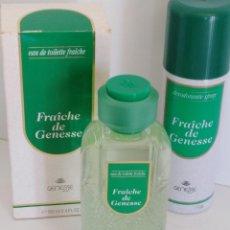 Miniaturas de perfumes antiguos: LOTE FRAÎCHE DE GENESSE EDT+DESODORANTE. Lote 125214639