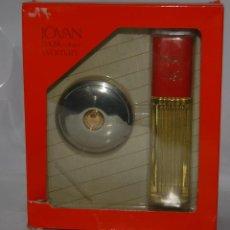 Miniaturas de perfumes antiguos: FRASCO DE COLONIA JOVAN ESTUCHE // PROCEDENTE DE ANTIGUA PERFUMERÍA. Lote 125305423