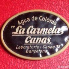 Échantillons de parfums anciens: ESPEJO PUBLICITARIO PERFUMERIA. AGUA COLONIA. CARMELA. BARCELONA AÑOS -40- 6,4X 4,6CM . VELL I BELL. Lote 126818607