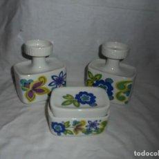 Miniaturas de perfumes antiguos: ORIGINAL JUEGO DE TOCADOR DE LA MARCA GUILLEN AÑOS 60-70. Lote 130359954