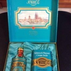 Miniaturas de perfumes antiguos: ESTUCHE TOCADOR JABON + COLONIA MARCA ORIGINAL Nº 4711. Lote 131115499