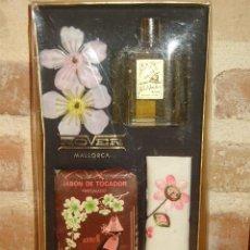 Miniaturas de perfumes antiguos: JUEGO DE COLONIA Y JABON ROVER MALLORCA.. Lote 131115552